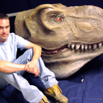 Dinosaur head sculpture for theme park or trade show