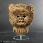 brown ewok mask with fur