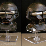 Custom movie prop mask acrylic helmet stand for STAR from the Black Hole