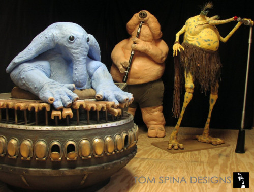 Max Rebo Band foam carved statues