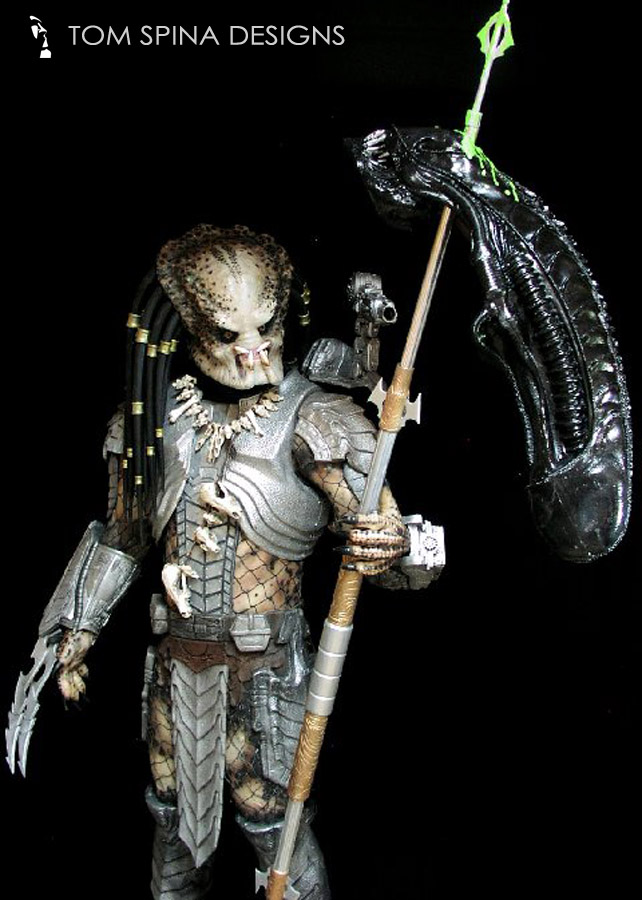 ... Predator costume display custom mannequin statue for movie costume with themed base ... & Predator Costume Custom Mannequin u0026 Themed Display - Tom Spina ...