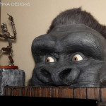 king kong puppet with giant foam statue head