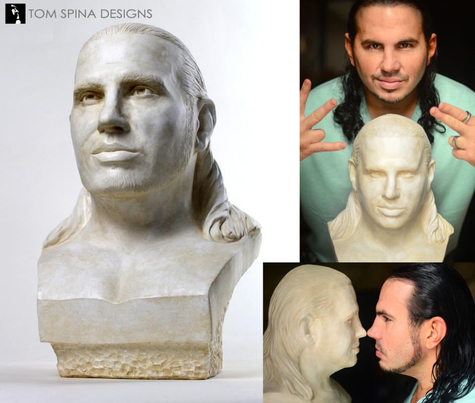 resin life size plaster style bust made from photos