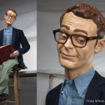 life size caricature statue for marketing