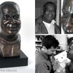 """Chef Bob"" Bronze Tribute Bust From Photos"