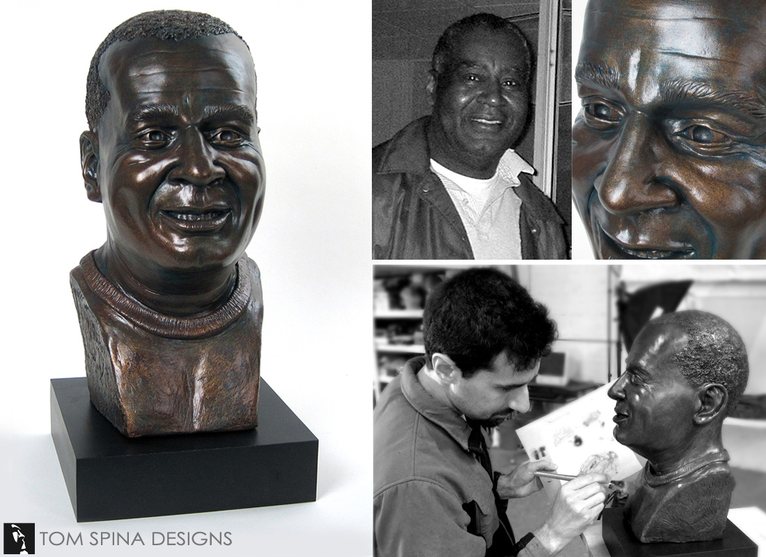 Memorial bronze tribute bust life sized