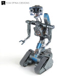 repair of screen used Johnny 5 Short Circuit 2 model miniature