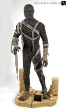 The Mummy movie costume 1999 Brendan Frasier custom mannequin
