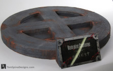 Priest vampire movie faux metal display base