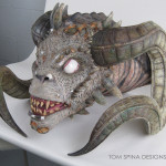 Soulkeeper Demon mask restoration of foam latex prop