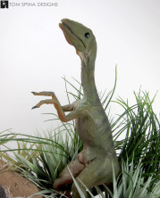 Lost World compy aka Compsognathus puppet display