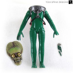 Tim Burton mars attacks alien movie prop stop motion