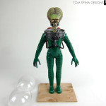 mars attacks alien Tim Burton movie prop stop motion