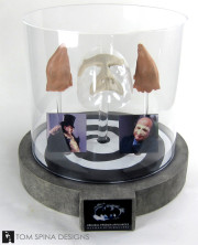 Batman Returns Penguin makeup with custom acrylic display cover
