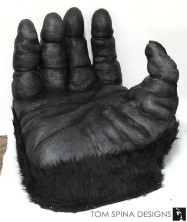 1976 King Kong Hand Chair made from carved foam