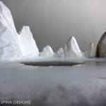 foam and plexiglass faux snow and ice model