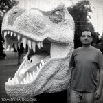 Jurassic Park T-Rex Life Sized Foam Carved Bust