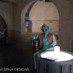 Greedo latex mask and hands