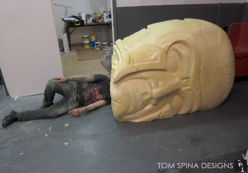 Styrofoam Foam Prop Statue Head for Stage