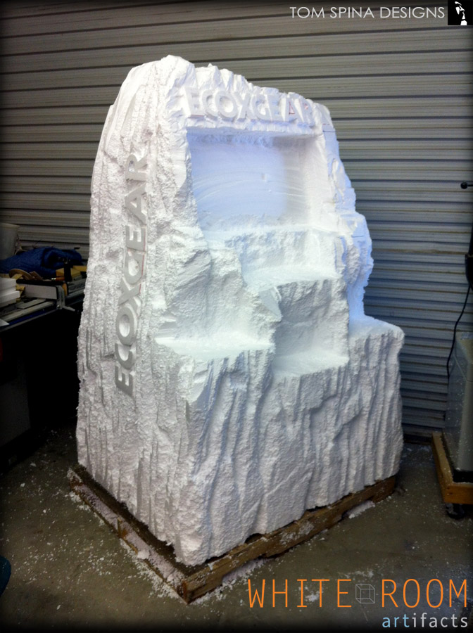 Foam trade show booth prop mountain rocks tom spina