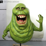 life sized movie prop statue of Slimer Ghost