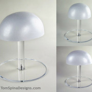 display hat stand for wigs, movie props and military or sports helmets