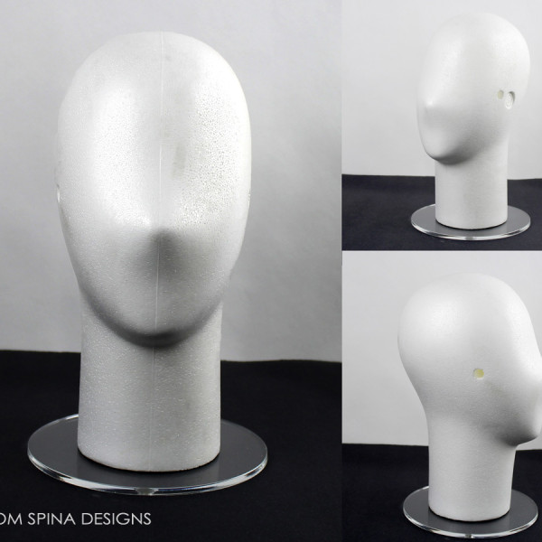 White Display Head with Acrylic Base