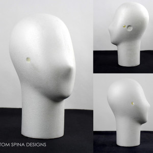 Faceless White Styrofoam