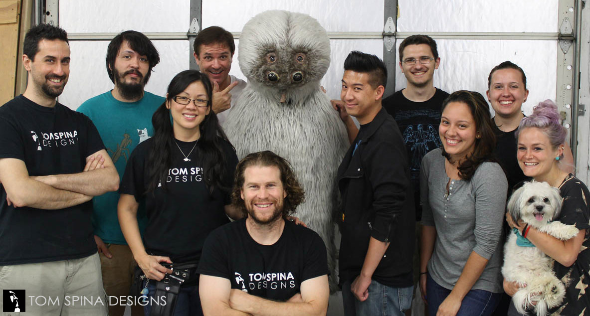 Tom Spina Designs crew with Muftak costume from Star Wars