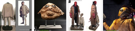 Luke Skywalker, Jabba the Hutt, Hellboy, Rocketeer