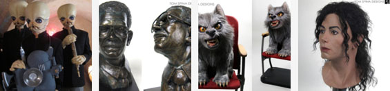 Star Wars band members, bronze bust,werewolf puppy, michael jackson