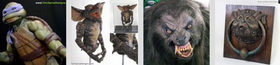 TMNT costume, Gremlins Puppet, American Werewolf in london, Labyrinth
