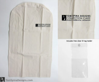 "42"" archival suit bag cotton muslin costume hanger bag"