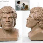 Bust sculpted by blind girl Lionel Richie