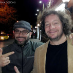 Comedian Jeff Ross with sculptor Rich Krusell