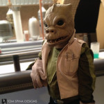 Bossk alien from the cantina bar