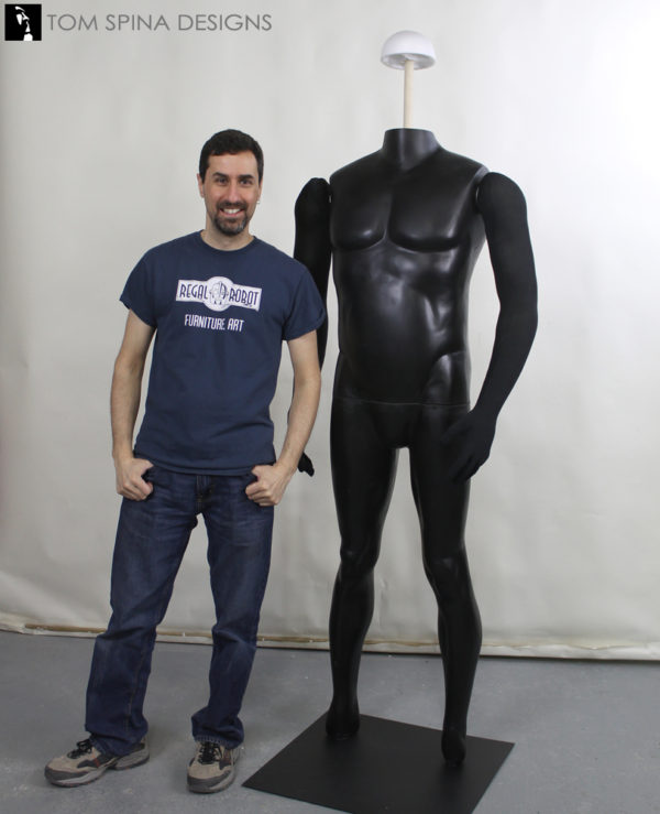 giant David Prowse measurements mannequin