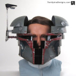 Life Sized Boba Fett helmet for Star Wars Charity