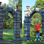 Carved Foam Cemetery Gates Arches Theme Park Prop