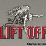 wax figure of Lift Off logo Daredevil beer