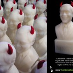 unusual corporate gag gift sculpture bust
