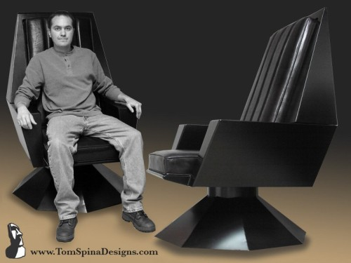galactic throne metal chair movie themed furniture for home theater or office