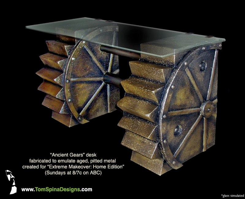 Steampunk Furniture Custom Gear Desk Tom Spina Designs