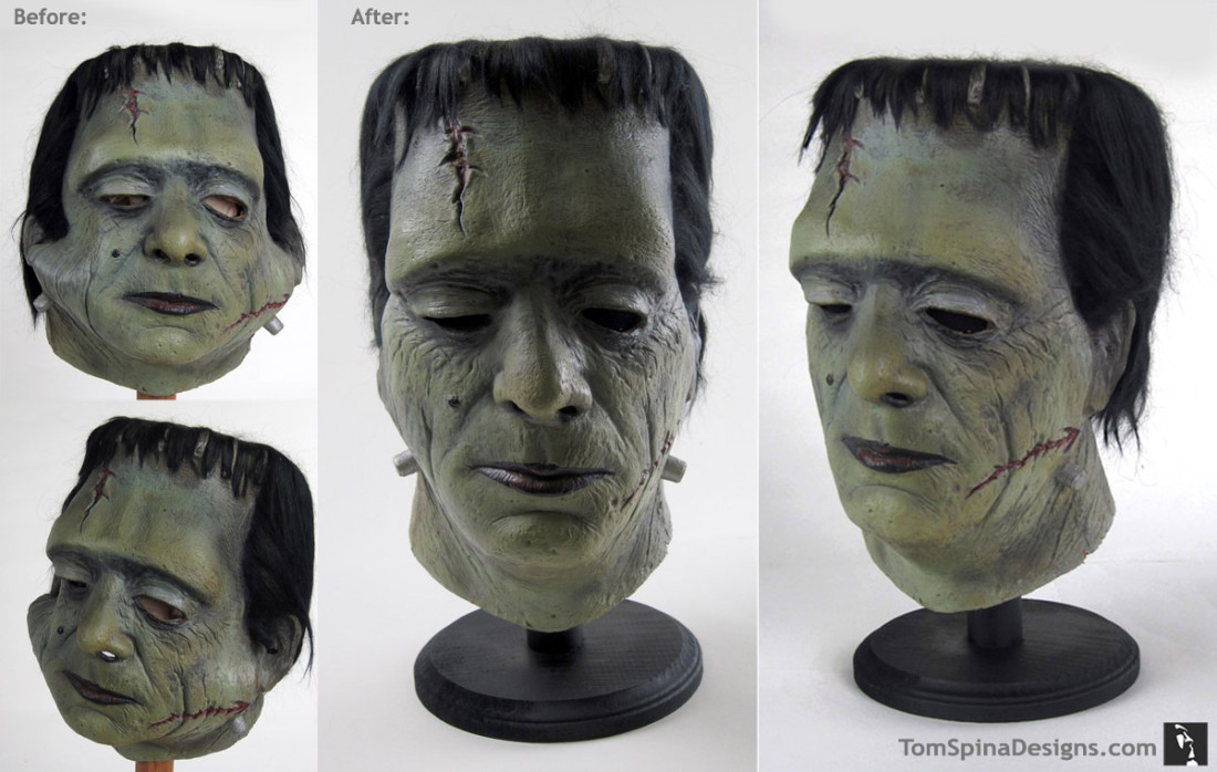 Glenn Strange Don Post Frankenstein mask for Bob Burns