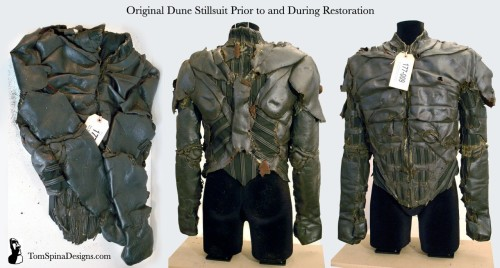 Dune Stillsuit movie costume restoration Display before work