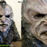 Farscape Scarran TV prop mask restoration