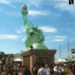 statue of liberty photo-op at governors ball nyc