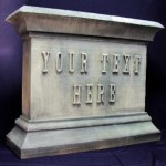 Custom tombstone props from foam