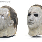 Don Shanks original movie prop latex Michael Myers mask repair