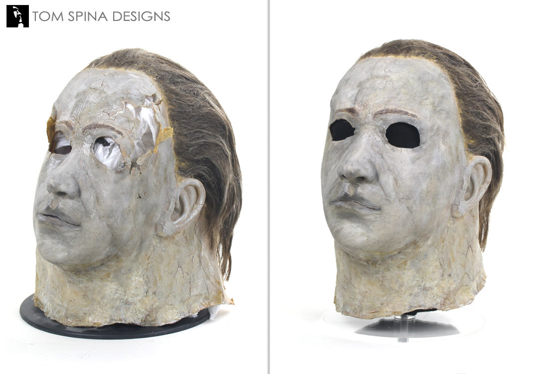 Michael Myers Mask Original Prop Restoration - Tom Spina Designs ...